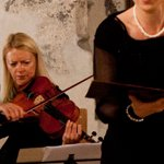 Beate Griesbeck mit Mitgliedern des Dalberg Quartetts. Foto: Juan Martin Koch